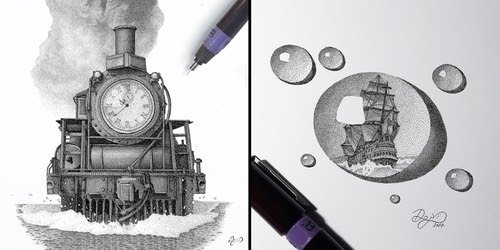 00-Dejvid-Stippling-Illustrator-using-Dots-to-Draw-www-designstack-co