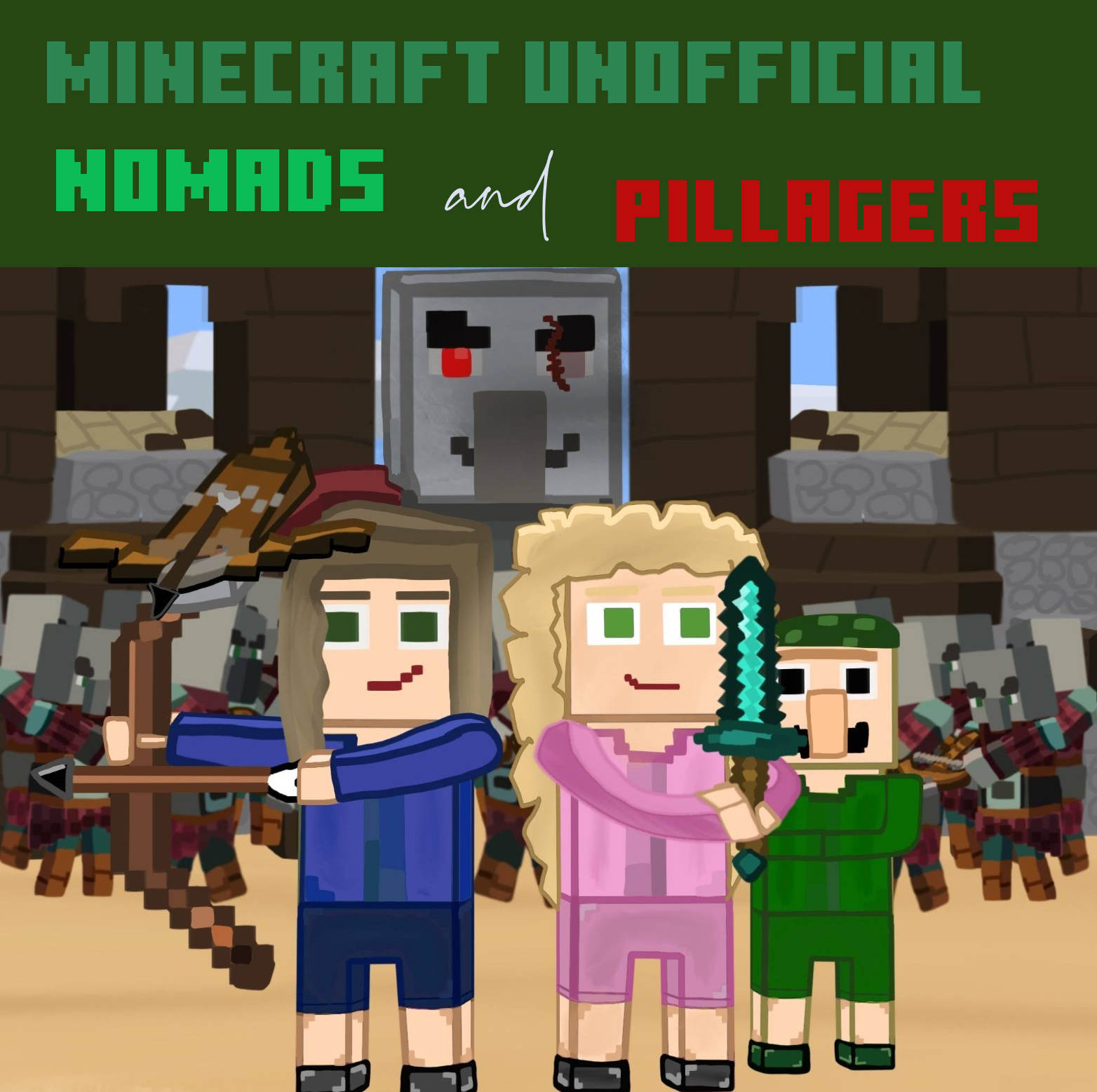 Minecraft Unofficial Nomads and Pillagers