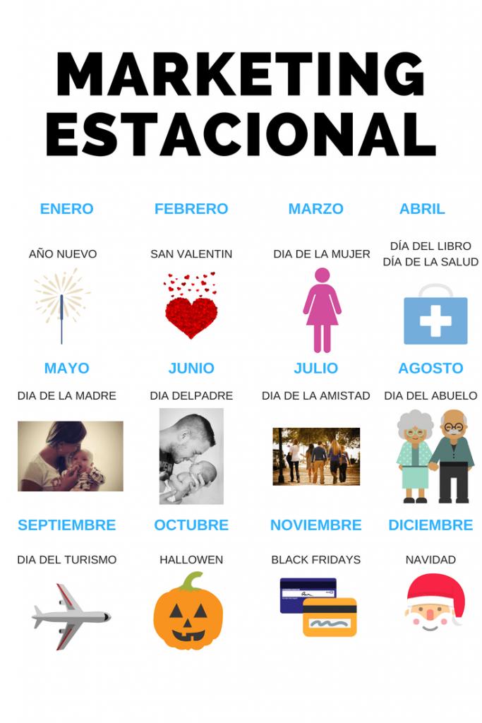 calendario estacional