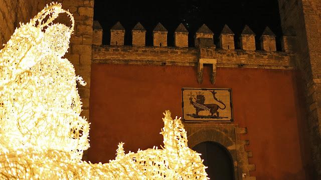 Belen en la puerta del Alcazar de Sevilla