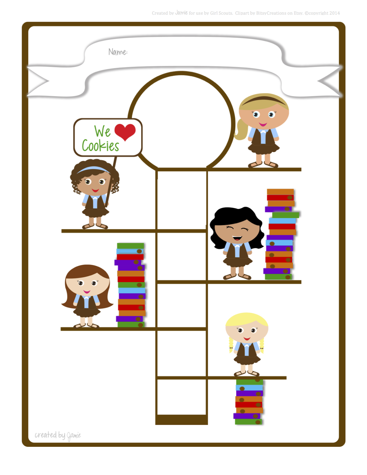 My Fashionable Designs Girl Scouts Cookie Goal Poster