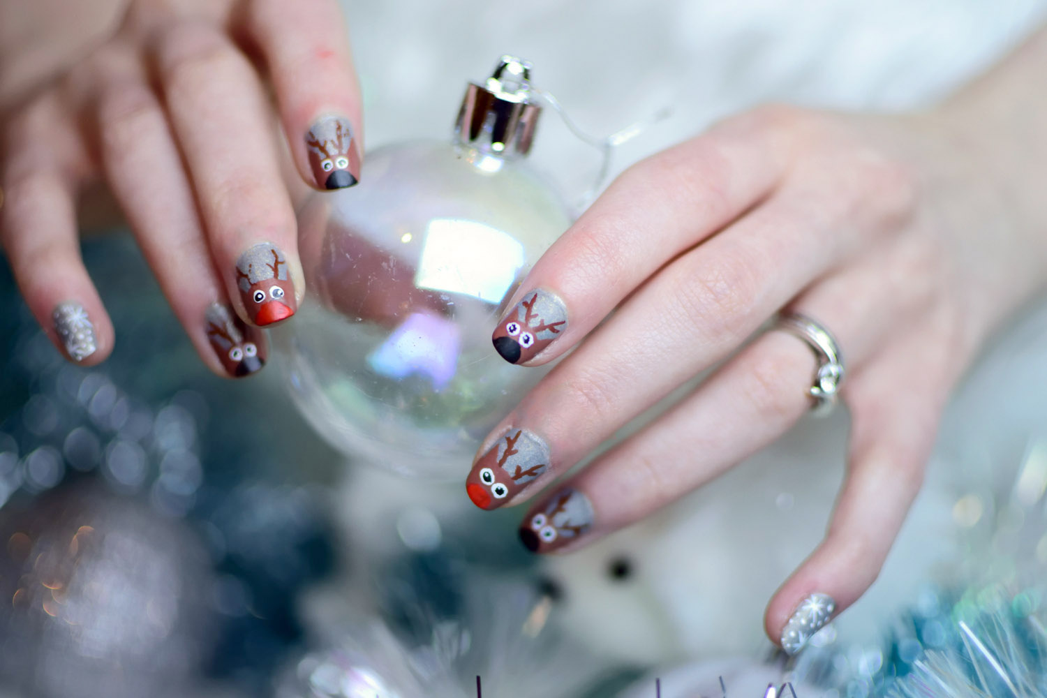 Nail art de no l facile rudolph et ses amis darkrevette mode alternative blog - Nail art noel facile ...
