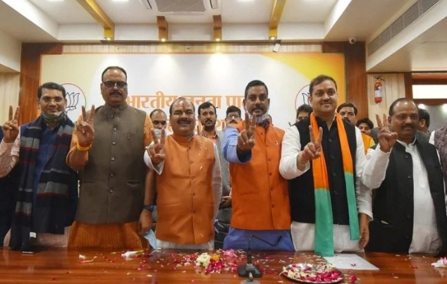 """As per the results declared for graduates' constituency seats gradually since Saturday, BJP bagged a total of three seats with Dr Manvendra Pratap Singh ''Guruji"""" winning the Agra seat and Dinesh Kumar Goyal Meerut's"""