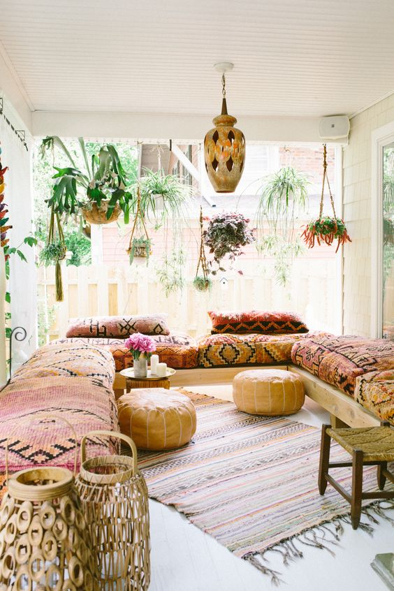 incorporate correct textiles interior blueprint 35+ Bohemian Style Living Room Decor Ideas
