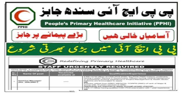 PPHI People's Primary Healthcare Initiative Sindh Jobs 2021