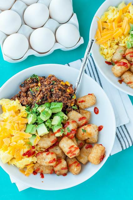 hidden vegetables, breakfast bowl, recipe, brunch