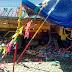 Vídeo - Caçamba desgovernada atinge barracas e deixa dois mortos e três feridos em Muritiba-Ba