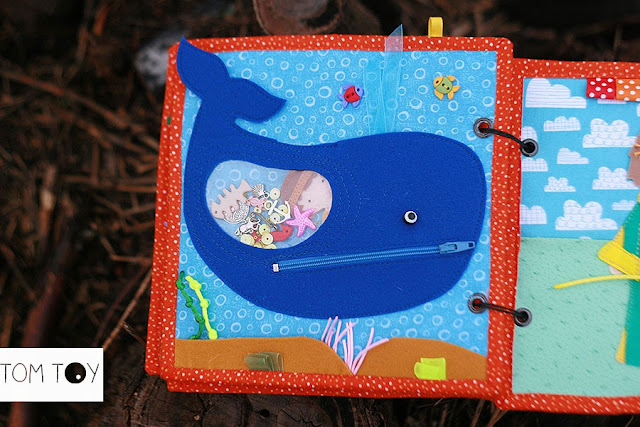 Bible quiet books handmade by TomToy Jonah and the big fish
