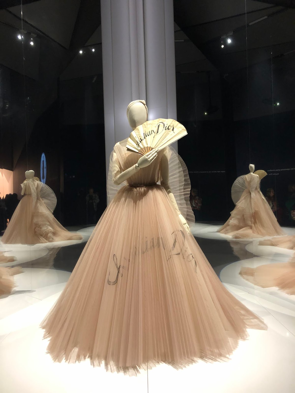 christian dior exhibition v and a fan dress