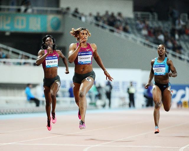Okagbare shines in Rabat, wins women's 100m title
