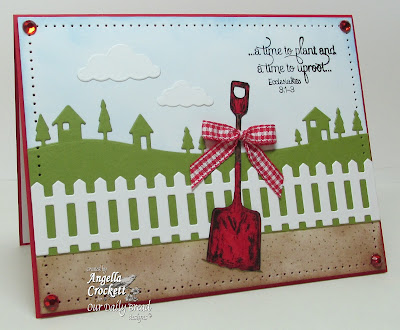 "ODBD ""I Dig You"", ""ODBD Fence Die"" Card Designer Angie Crockett"