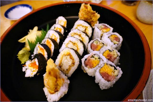Sushi Rolls de Toraya en Arlington, Massachusetts
