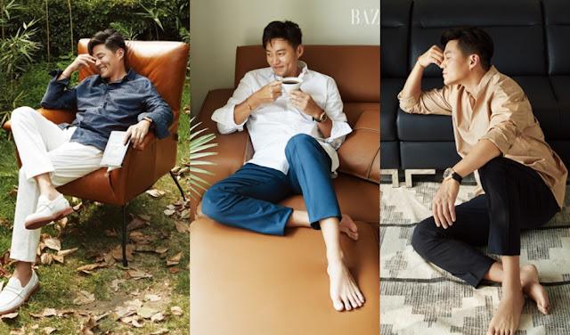 時尚都會男子李瑞鎮 雜誌新畫報展現熟男魅力