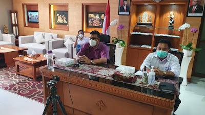 Rai Iswara Ikuti Vidcon Rakor Targeted Testing dan Tracing Covid-19 Dengan Menko Kemaritiman