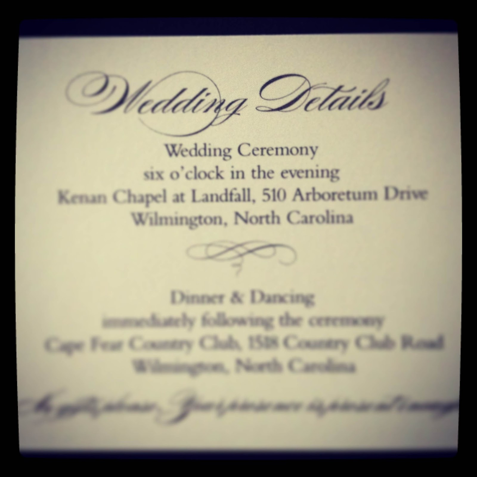 No Gifts Wedding: Stellar Events: Simple & Elegant Invitations