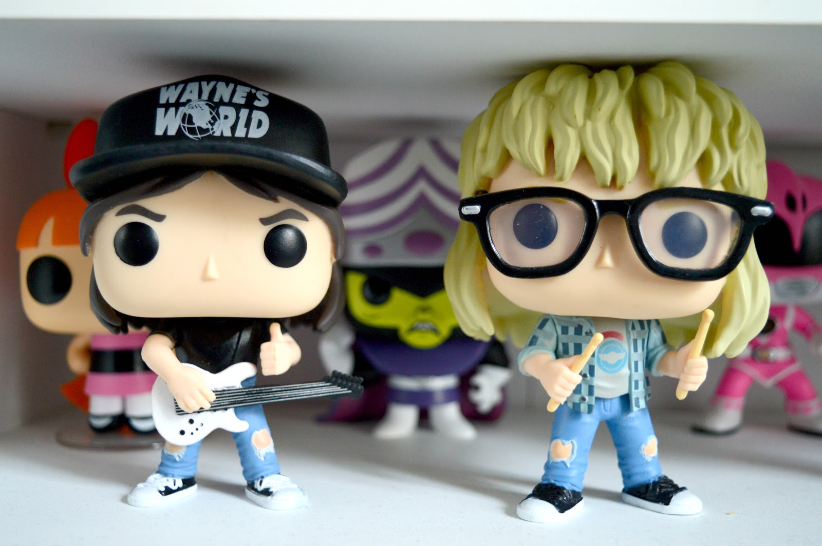 A picture of the Wayne and Garth Funko POPs from Wayne's World