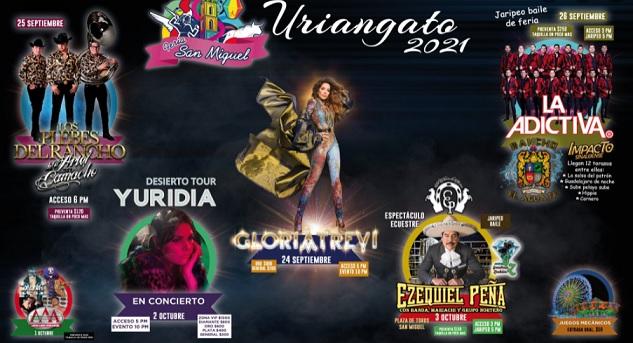 Feria San Miguel Uriangato 2021 Conciertos