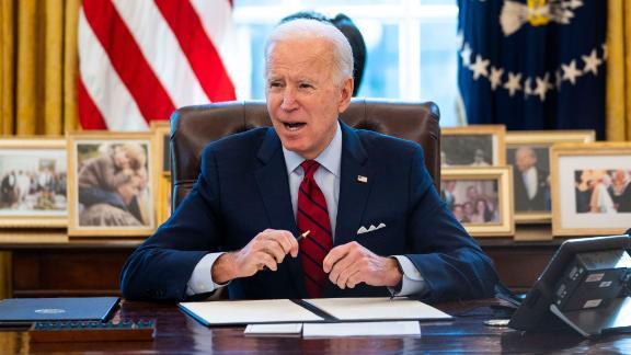 Joe Biden channels Reagan in push for Covid relief