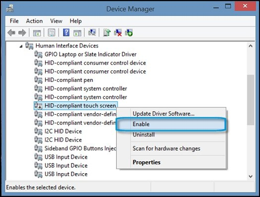 Activate Touch Screen on HP Laptop
