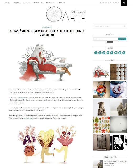 Mar Villar, prensa, entrevista Mar Villar, reseña Mar Villar, ilustraciones de Mar Villar, blog Esto no es arte