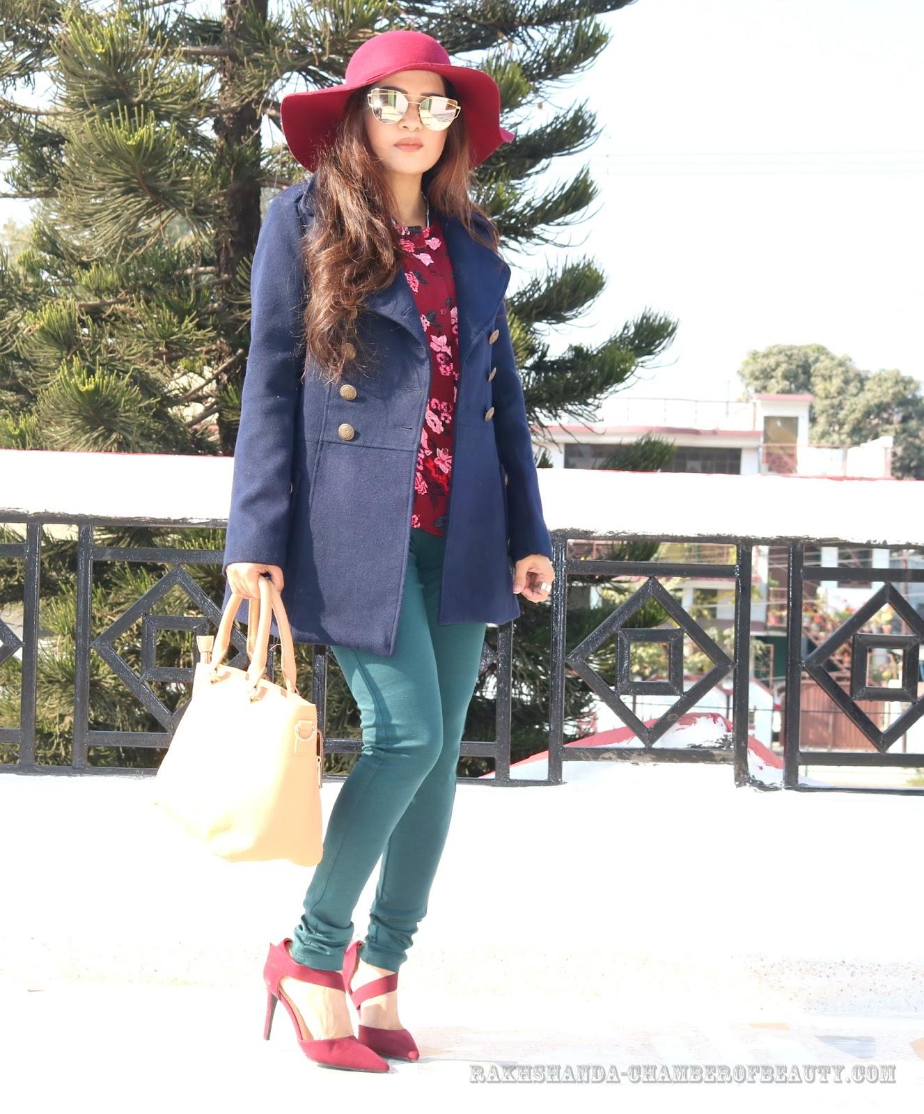 Fashion blogger/rakhshanda-chamberofbeauty/Max fashion/how to style printed shirt in winter