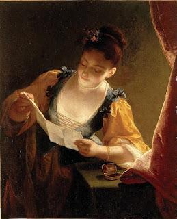 Jean Raoux  - Молодая женщина читает письмо