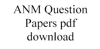 ANM Question Papers pdf download