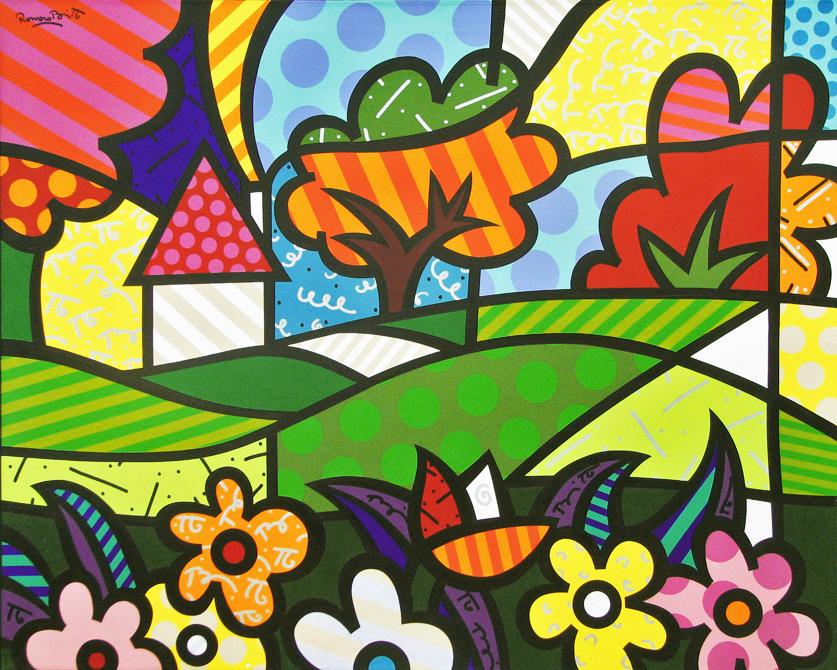 Doce Lar - Pintura de Romero Britto ~ Pintor Brasileiro