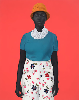Lady With Orange Hat, Amy Sherald