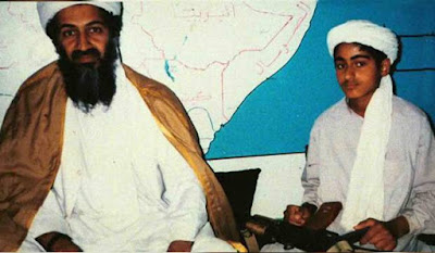 Osama and his son Hamza