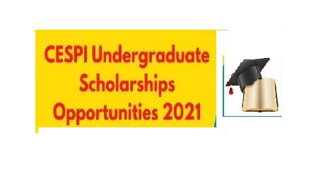 CESPI Undergraduate Scholarships 2021 -Apply Online - Academic Years 2021-2022
