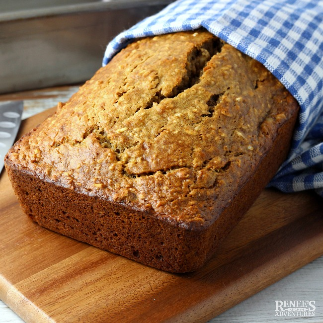 Easy banana oatmeal bread renees kitchen adventures easy banana oatmeal bread forumfinder Images