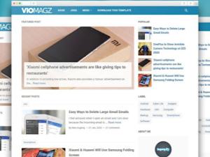 VioMagZ v4.3.0 – Blogger Template Premium