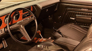 Valiant Black 1970 Pontiac LeMans GTO Interior