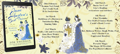 Blog Tour: Jane Austen's Best Friend by Zoe Wheddon