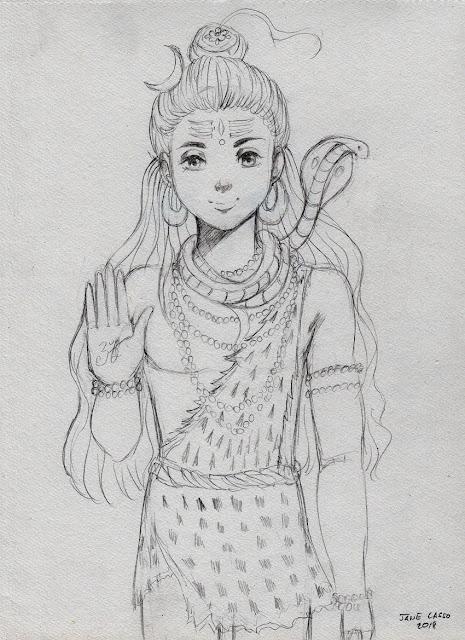 Shiva a lapiz