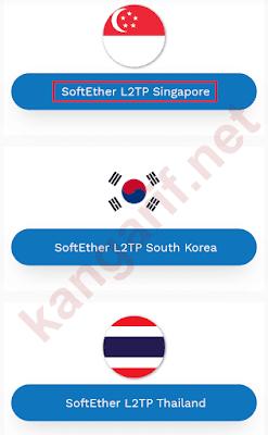 pilih negara lokasi server l2tp