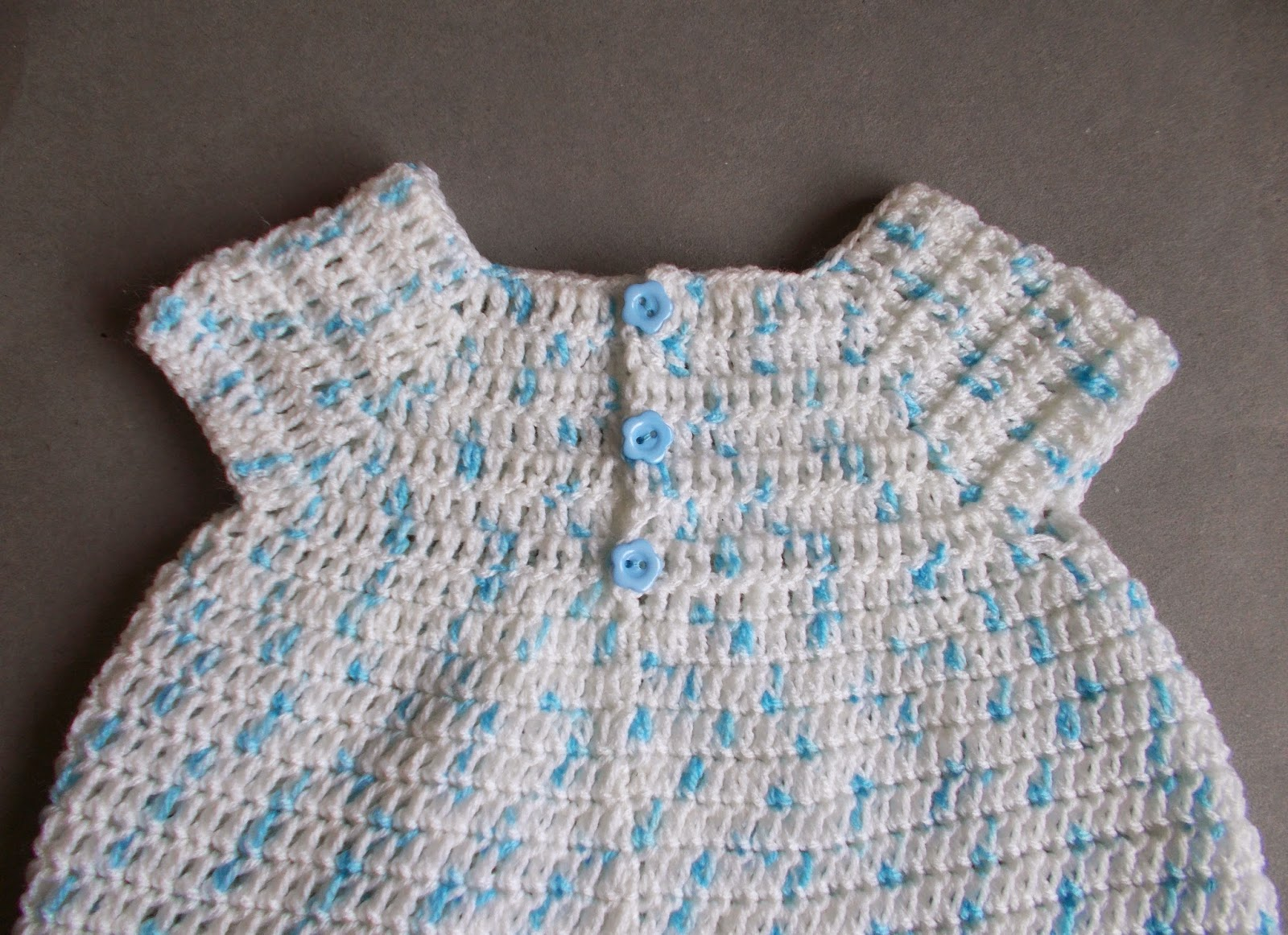 Marianna s lazy daisy days meadow sweet baby dress - Starting Out Crochet Baby Dress Back View