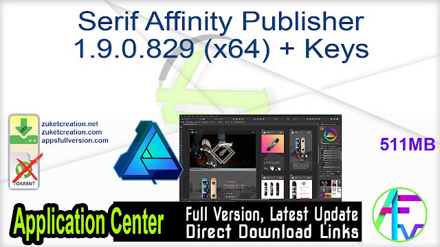 Serif Affinity Publisher 1.9.0.829 (x64) + Keys