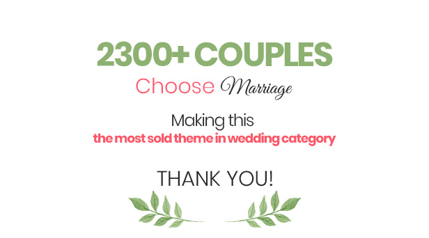Best Wordpress Responsive Theme For Wedding  - Marriage