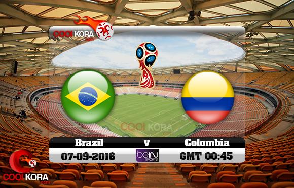 مشاهدة مباراة البرازيل وكولومبيا  اليوم 7-9-2016 تصفيات كأس العالم