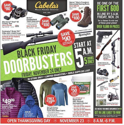 Cabela's Black Friday 2017 Ad