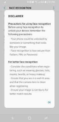 Facial Recognition Galaxy S8