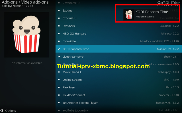 how to download popcorn time on kodi