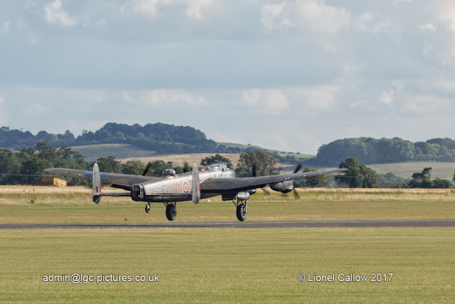 BBMF Lancaster take off test flight