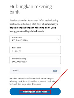 Informasi Detail Rekening Bank