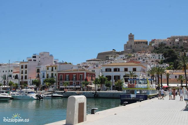 Dalt Vila Ibiza City boat barco