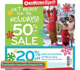 Free Printable OshKosh B'gosh Coupons