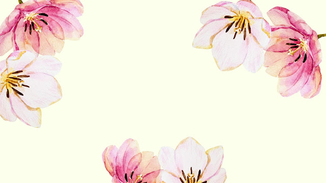 Watercolor Spring Flowers Desktop Wallpaper 3 / www.thejoyblog.net