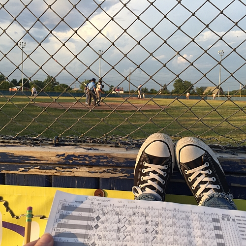 keeping score at the baseball game